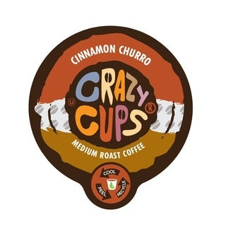 Crazy Cups 'Cinnamon Churro' Single Serve Coffee K-Cups