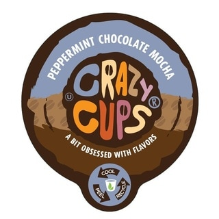 Crazy Cups 'Peppermint Chocolate Mocha' Single Serve Coffee K-Cups