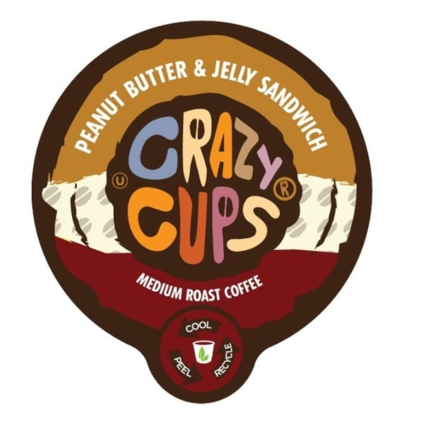 Crazy Cups 'Peanut Butter & Jelly Sandwich' Single Serve Coffee K-Cups