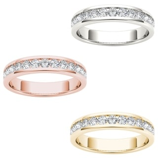 De Couer 14k Gold 3/8ct TDW Diamond Exquisite Women's Wedding Band (H-I, I2)