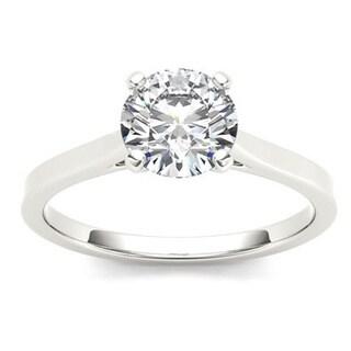 De Couer 14k Gold 1ct TDW Diamond Effulgent Engagement Ring (H-I, I2)