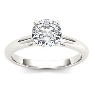 De Couer 14k Gold 3/4ct TDW Diamond Lustrous Engagement Ring (H-I, I2)