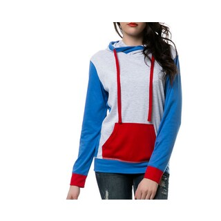 Zutoq Women's Tri-Color Pullover Hoodie