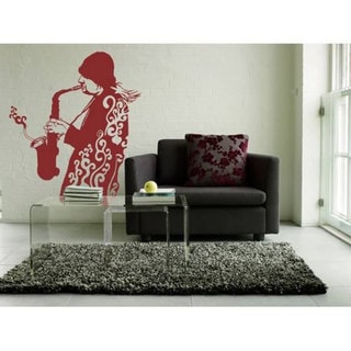 Sax Music Inspirational Vinyl Sticker Wall Art