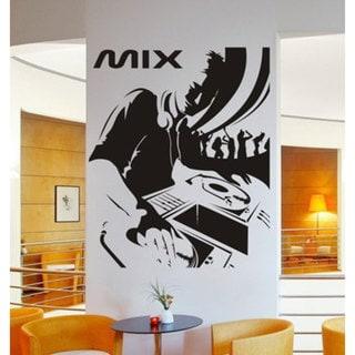 DJ Mix Music Inspirational Vinyl Sticker Wall Art