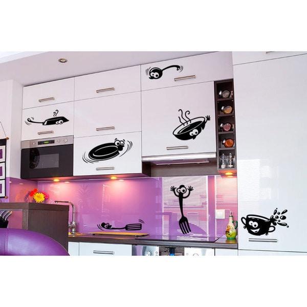 Pots and Pans Kitchen Vinyl Sticker Wall Art