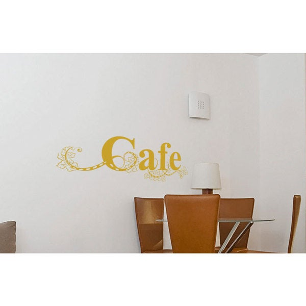 Cafe Sign Kitchen Vinyl Sticker Wall Art