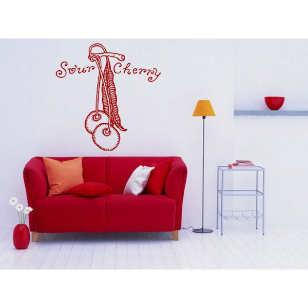 Sour Cherry Kitchen Vinyl Sticker Wall Art