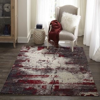 "Studio Grey Vapor Power-Loomed Rug (5'3""x7'6"")"