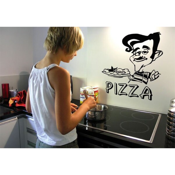 Pizza Italian Cousin Chef Kitchen Vinyl Sticker Wall Art