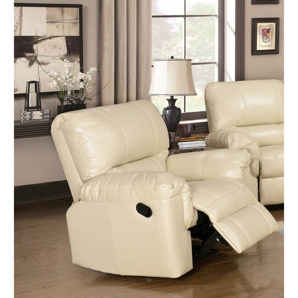 LYKE Home Ramos Cream Reclining Chair