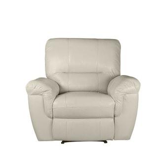 LYKE Home Ramos Cream Reclining Chair
