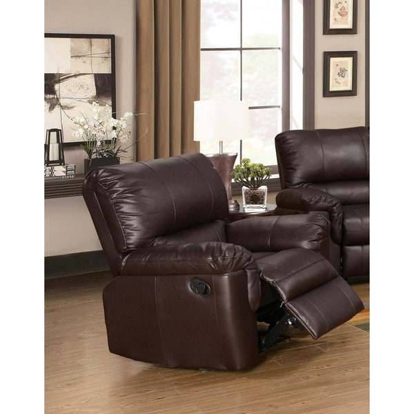LYKE Home Ramos Brown Reclining Chair