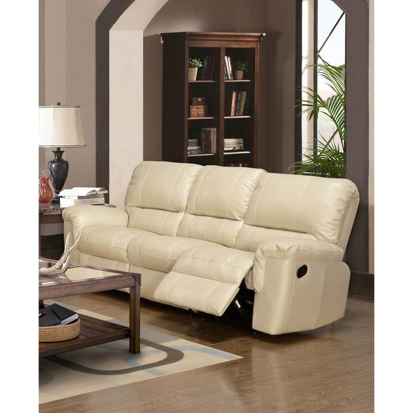 LYKE Home Ramos Cream Reclining Sofa