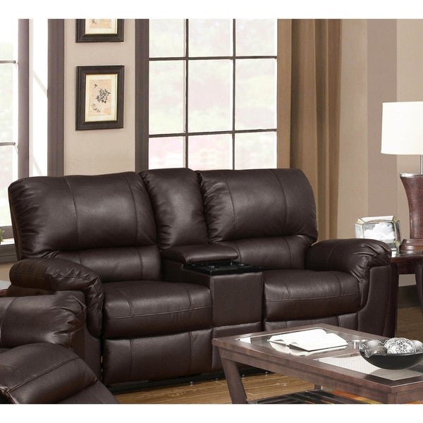 LYKE Home Ramos Brown Reclining Loveseat