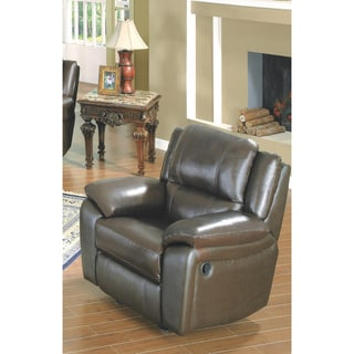 LYKE Home Baxton Brown Leather Match Chair