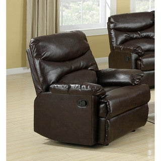 LYKE Home Gena Brown Bonded Leather Chair