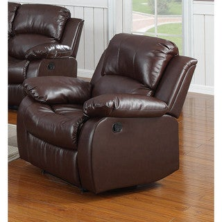 LYKE Home Kayla Brown Bonded Leather Chair