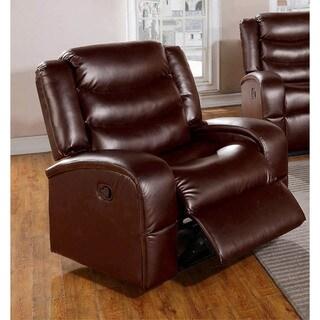 LYKE Home Edy Brown Bonded Leather/PU Chair