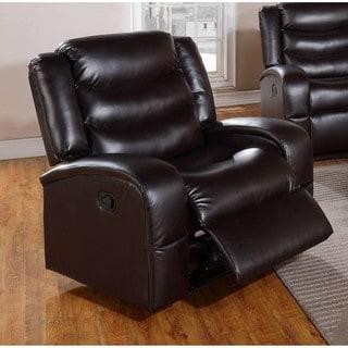 LYKE Home Edy Black Bonded Leather/PU Chair