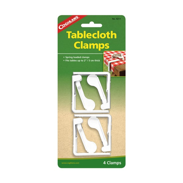 Coghlans Tablecloth Clamps-ABS Plastic (Pack of 4)