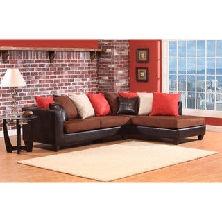 LYKE Home Patrice Sectional w/Mixed Color Pillows