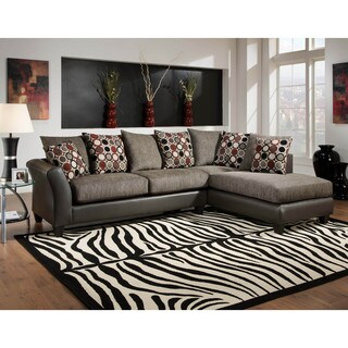LYKE Home Alani Brown Sectional