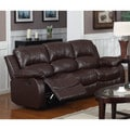 LYKE Home Kayla Brown Bonded Leather Sofa