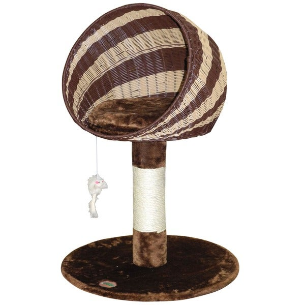 Go Pet Club Brown / Natural 33-inch Wicker Cat Tree