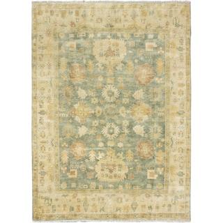 Ecarpetgallery Royal Ushak Medium Weak Cyan Wool Open Field Rectangular Rug (8'6 x 11'7)