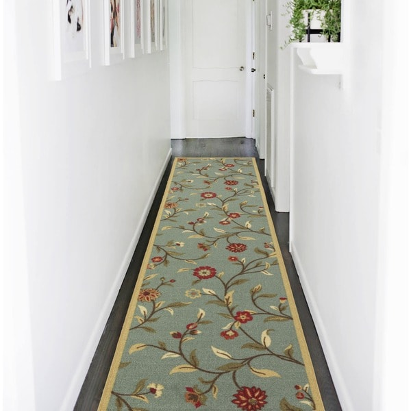 Ottomanson Ottohome Collection Floral Garden Design Modern Hallway Runner Rug (2'7 x 9'10) 15485747