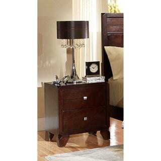 LYKE Home Phylis Merlot 2-drawer Night Stand