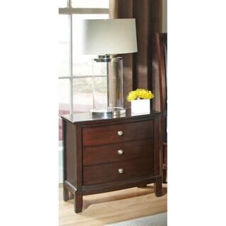 LYKE Home Dena Cherry 3-drawer Night Stand