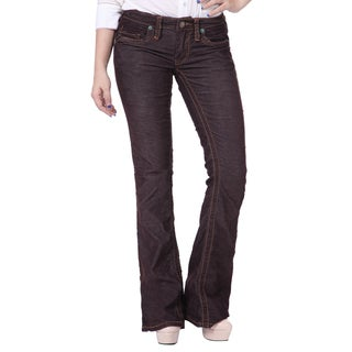 Stitch's Womens Boot Cut Denim Trousers Jeans Pants Worn Style
