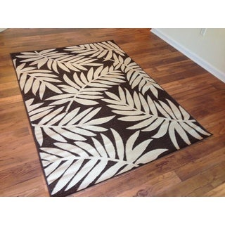 Beige Brown Pool Patio Lanai Deck Area Rug Area Rug (7'10 X 10'6)