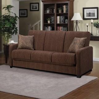 Better Living Brown Chenille Convert-a-Couch Sofa Sleeper