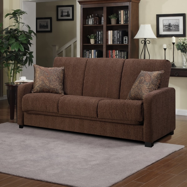 Better Living Brown Chenille Convert-a-Couch Sofa Sleeper