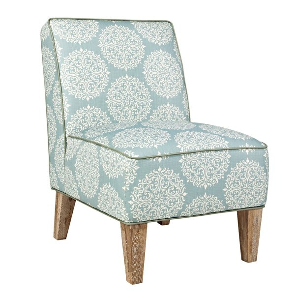 Better Living Madigan Blue Scroll Armless Chair
