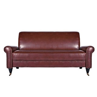 Better Living Hyde Red Renu Leather Sofa