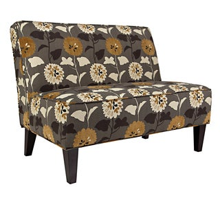 Better Living Madigan Brown and Cream Floral Armless Settee