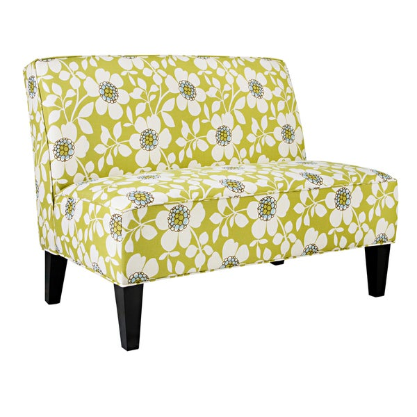 Better Living Madigan Green Floral Armless Settee