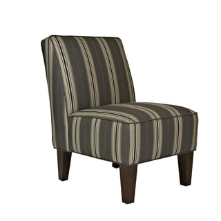 Better Living Madigan Grey Stripe Armless Chair