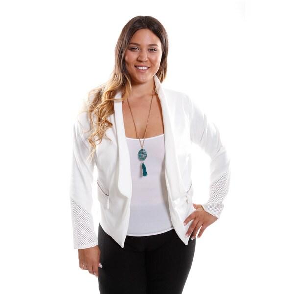 Hadari Women's Plus Size Blazer