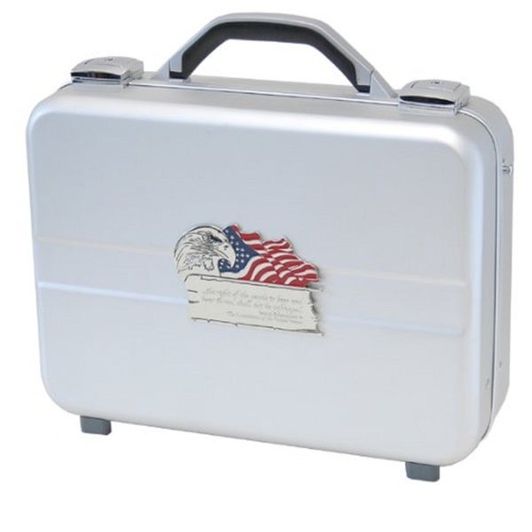 T.Z. Case Molded Aluminum Executive Pistol Case Silver (14.25 inches)