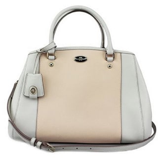 Coach Small Margot Carryall Apricot Crossgrain Bag