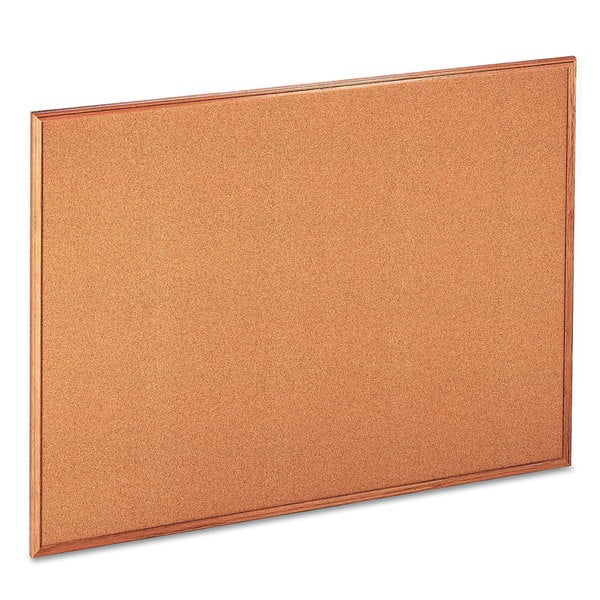 Universal Natural Cork Board with Oak Style Frame