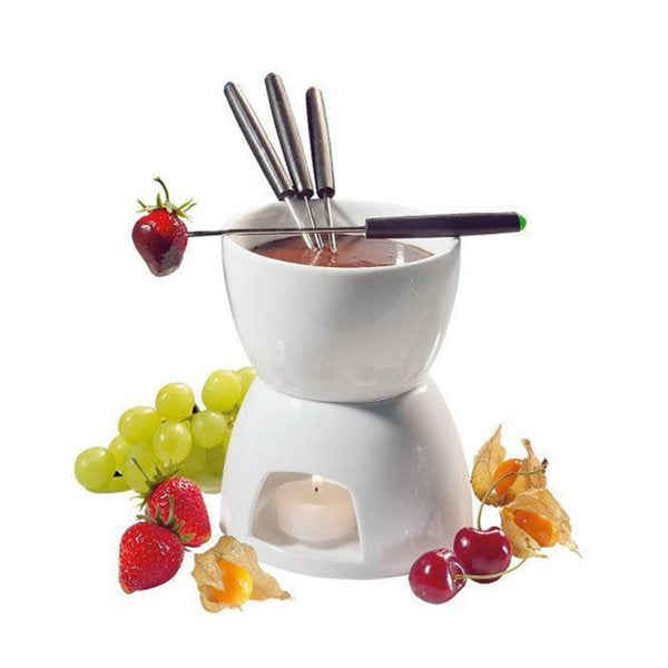 Ceramic Fondue Set for 2 with Tealight