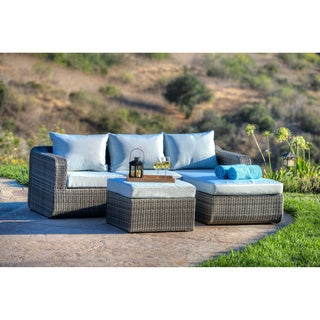 the-Hom Luies 3-piece All-weather Wicker Patio Conversation Set