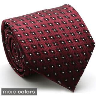 Ferrecci Mens Premium Square Print Neckties