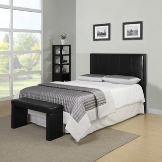 Better Living Black Full/Queen Headboard and Bench Set
